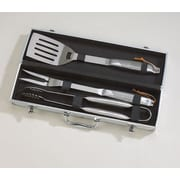 Creative Gifts International Holyoke 3 Piece Stainless Steel BBQ Set