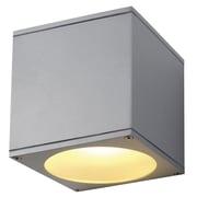 SLV Lighting Theo 1 Light Flush Mount; Silver Gray