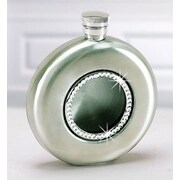 Creative Gifts International 4.5 Oz. Stainless Steel Round Flask w/ Crystals