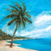 Portfolio Canvas 'Paradise Palms Square' by Michael Saunders Framed Painting Print on Wrapped Canvas