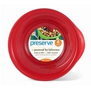 Preserve Everyday 16 oz. Bowl (Set of 4); Pepper Red