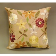Essential Milena Embroidered Jewel Toss Throw Pillow (Set of 2); Tan