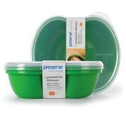 Preserve Food Storage Container (Set of 2); Green