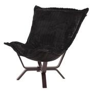 Howard Elliott Milan Puff Chair; Mink Black