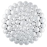 Majestic Mirror Glamourous Round Beveled Glass Panel Decorative Hanging Wall Mirror