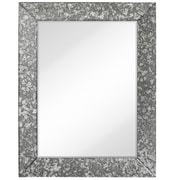 Majestic Mirror Simple Rectangular Antique Beveled Mirror Panels