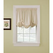 Window Accents Ridgedale Woven Blackout Pole Top Pocket Tie Up Shade; Natural