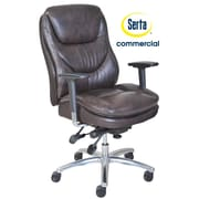 Serta at Home Series 600 Puresoft  High-Back Task Chair; Brown