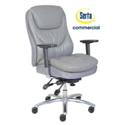 Serta at Home Series 600 Puresoft  High-Back Task Chair; Grey