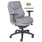 Serta at Home Series 400 Puresoft  High-Back Task Chair; Grey