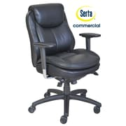Serta at Home Series 400 Puresoft  High-Back Task Chair; Black