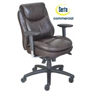 Serta at Home Series 400 Puresoft  High-Back Task Chair; Brown