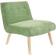 LumiSource Vintage Neo Slipper Chair; Green