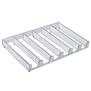 Azar 2/Pack 6-Compartment Modular Tray Inserts 1.12 x 11.75-inch