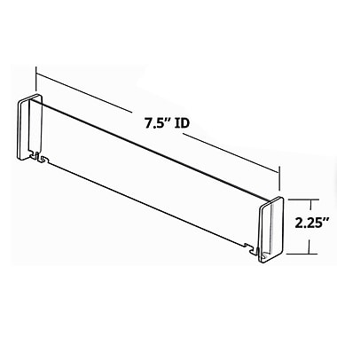 Azar Tall Center Dividers, 2.25