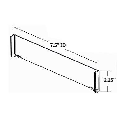 Azar Tall End Dividers, 2.25