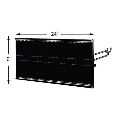 Azar Displays Extended Graphic Sign Holder, Black, 9