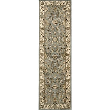 Kathy Ireland Home Gallery Lumiere Stateroom Slate Blue Area Rug; Runner 2'3'' x 7'9''