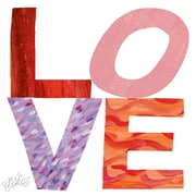 Marmont Hill The Very Hungry Caterpillar Character Love Stacked Painting Print on Wrapped Canvas