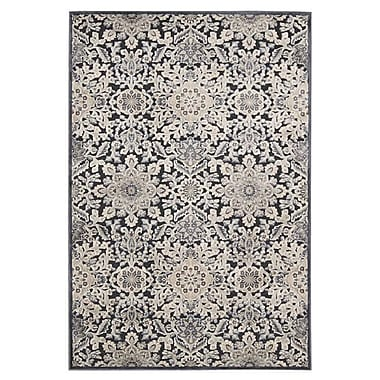 Kathy Ireland Home Gallery Bel Air Marseille Charcoal Area Rug; 7'9'' x 9'9''