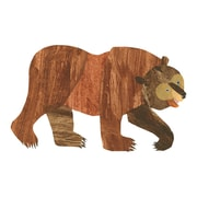 Marmont Hill Brown Bear Character Bear Painting Print on Wrapped Canvas; 16'' H x 24'' W
