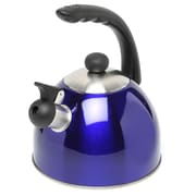 Creative Home Rhapsody 2.1 Qt. Whistle Tea Kettle; Metallic Blue