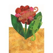 'The Mixed-Up Chameleon Character Art Flower' by Eric Carle Painting Print on Wrapped Canvas