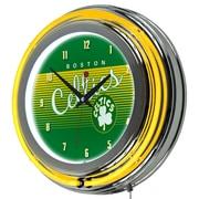 "Trademark Global NBA Hardwood Classics NBA1400HC-BC 14.5"" Green Double Ring Neon Clock, Boston Celtics"