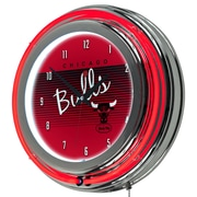 "Trademark Global NBA Hardwood Classics NBA1400HC-CB 14.5"" Red Double Ring Neon Clock, Chicago Bulls"