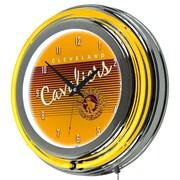 "Trademark Global NBA Hardwood Classics NBA1400HC-CC 14.5"" Yellow Double Ring Neon Clock, Cleveland Cavaliers"
