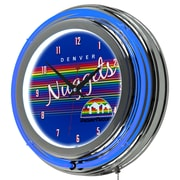 "Trademark Global NBA Hardwood Classics NBA1400HC-DN 14.5"" Blue Double Ring Neon Clock, Denver Nuggets"