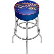 Trademark Global NBA Hardwood Classics NBA1000HC-DN Steel Padded Swivel Bar Stool, Denver Nuggets