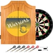 Trademark Global NBA NBA7000HC-GSW Wood Dart Cabinet Set, Golden State Warriors