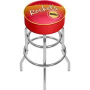 Trademark Global NBA Hardwood Classics NBA1000HC-HR Steel Padded Swivel Bar Stool, Houston Rockets