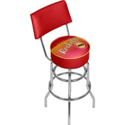 Trademark Global NBA Hardwood Classics NBA1100HC-HR Steel Bar Stool with Back, Houston Rockets