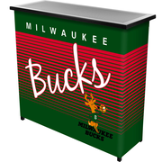 Trademark Global NBA NBA8000HC-MB Portable Bar with Case, Milwaukee Bucks