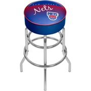 Trademark Global NBA Hardwood Classics NBA1000HC-NJN Steel Padded Swivel Bar Stool, New Jersey Nets