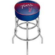 Trademark Global NBA Hardwood Classics NBA1000HC-P76 Steel Padded Swivel Bar Stool, Philadelphia 76ers