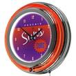 "Trademark Global NBA Hardwood Classics NBA1400HC-PS 14.5"" Purple Double Ring Neon Clock, Phoenix Suns"