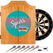 Trademark Global NBA NBA7000HC-SAS Wood Dart Cabinet Set, San Antonio Spurs