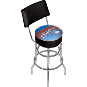 Trademark Global NBA Hardwood Classics NBA1100HC-SDC Steel Bar Stool with Back, San Diego Clippers
