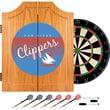 Trademark Global NBA NBA7000HC-SDC Wood Dart Cabinet Set, San Diego Clippers