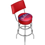 Trademark Global NBA Hardwood Classics NBA1100HC-WB Steel Bar Stool with Back, Washington Bullets