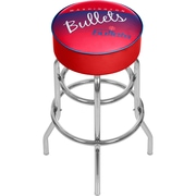 Trademark Global NBA Hardwood Classics NBA1000HC-WB Steel Padded Swivel Bar Stool, Washington Bullets