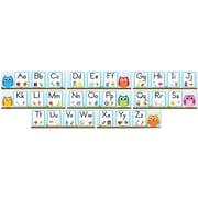 Carson-Dellosa Colorful Owls Alphabet Bulletin Board Set, 8 Pieces/Set