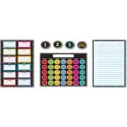 Carson-Dellosa Colorful Chalkboard Bulletin Board Set, 40 Pieces/Set