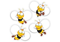 Carson-Dellosa Buzz Worthy Bees Cut-Outs, 45/Pack