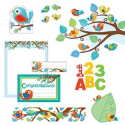 Carson-Dellosa BoHo Birds Alphabet Bulletin Board Set, 18 Pieces/Set