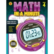 Brighter Child Math in a Minute Workbook for Grade 4
