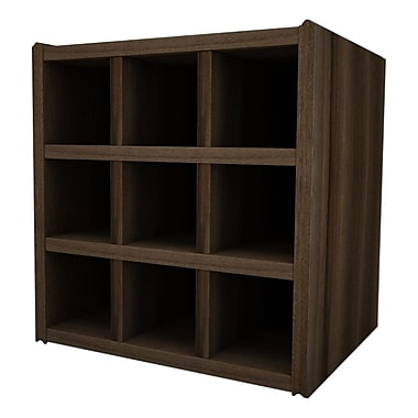 Quagga Designs qd-box™ with Wine Rack, Walnut Stain